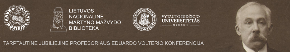 Jubiliejinė prof. Eduardo Volterio konferencija