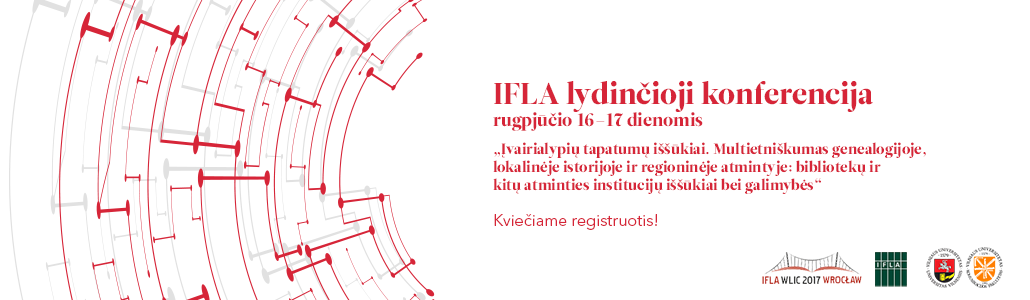 IFLA 2017 lydinčioji konferencija Vilniuje